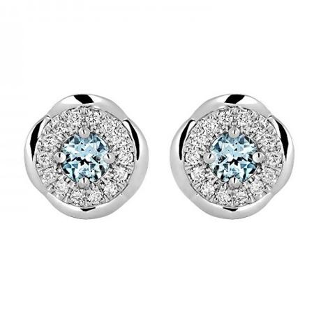 Золотые серьги с бриллиантами 01С629683-3