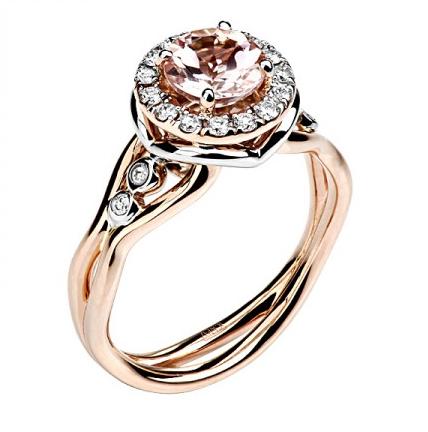 Золотое кольцо с бриллиантами 01К669683