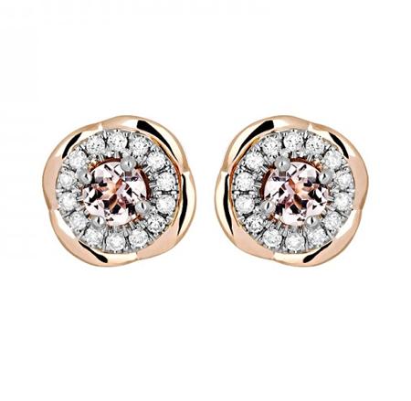 Золотые серьги с бриллиантами 01С669683