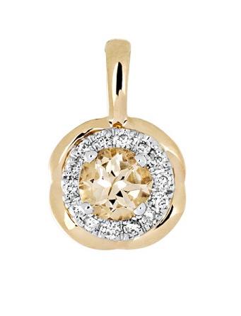 Золотая подвеска с бриллиантами 01П669683Ж