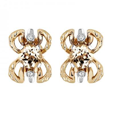 Золотые серьги с бриллиантами 01С669681Ж