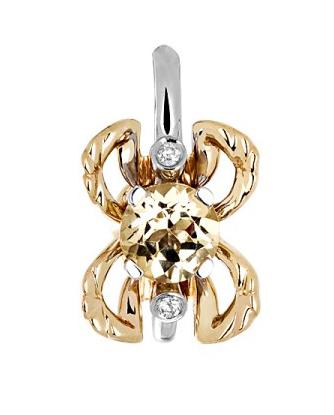 Золотая подвеска с бриллиантами 01П669681Ж