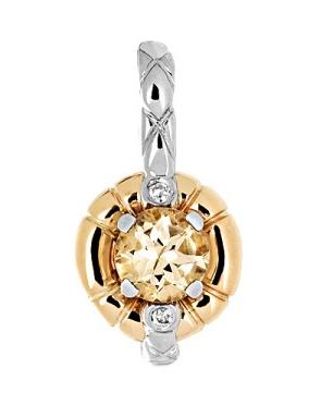 Золотая подвеска с бриллиантами 01П669682Ж