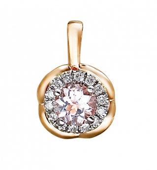 Золотая подвеска с бриллиантами 01П669683-1