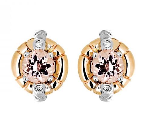 Золотые серьги с бриллиантами 01С669682