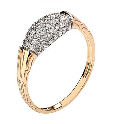 Кольцо золотое 01К1110480