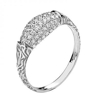 Кольцо из белого золота 01К1210478