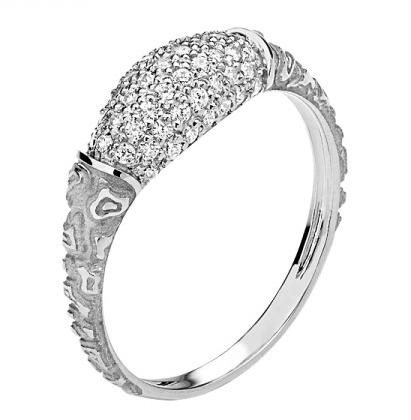Кольцо из белого золота 01К1210479