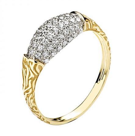 Кольцо из желтого золота 01К1310478