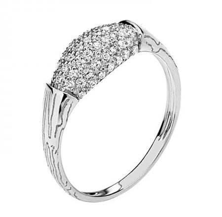 Кольцо из белого золота 01К1210480
