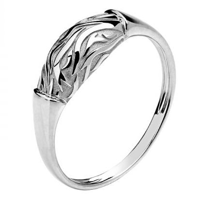 Кольцо из белого золота 01К0210172
