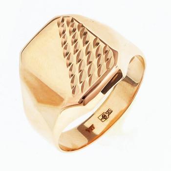 Перстень печатка из золота 01Т7111806