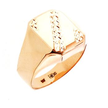 Перстень печатка из золота 01Т7111807