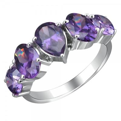 Серебряное кольцо с фианитами 01С2511675-3