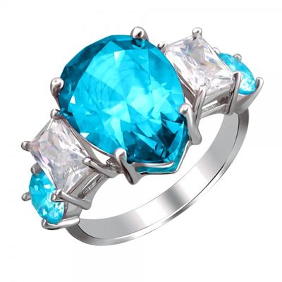 Серебряное кольцо с фианитами 01К2511679-3