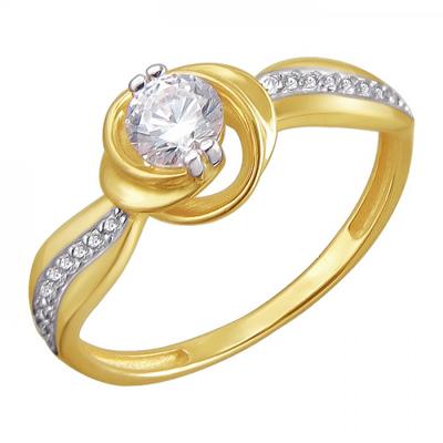Кольцо из желтого золота 01К1311476Р