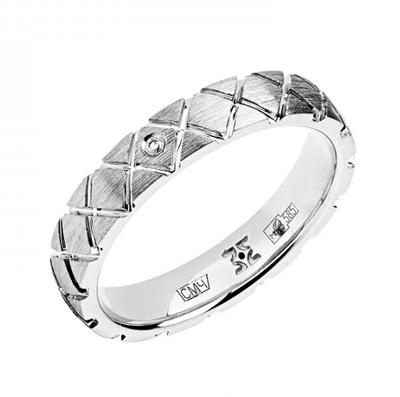 Обручальное кольцо с бриллиантами 01О620331