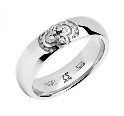 Обручальное кольцо с бриллиантами 01О620332