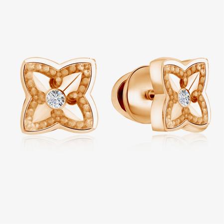 Серьги золотые с бриллиантами 01С618744