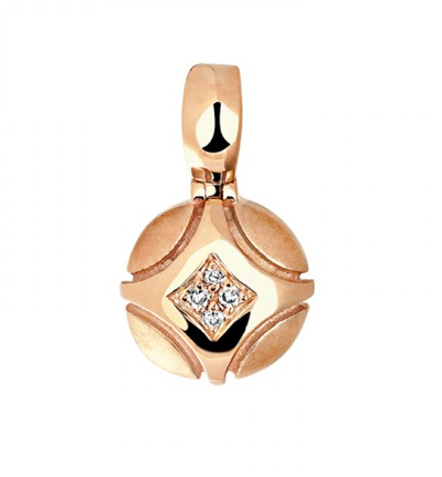 Подвеска золотая с бриллиантами 01П618748