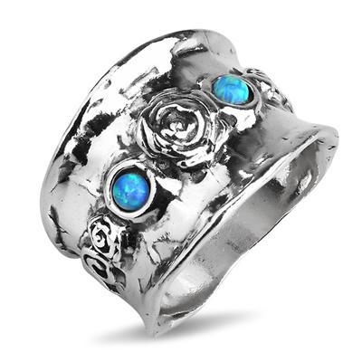 Серебряное кольцо Yaffo с опалом TZR314