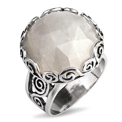 Серебряное кольцо Yaffo с лунным камнем TZR298
