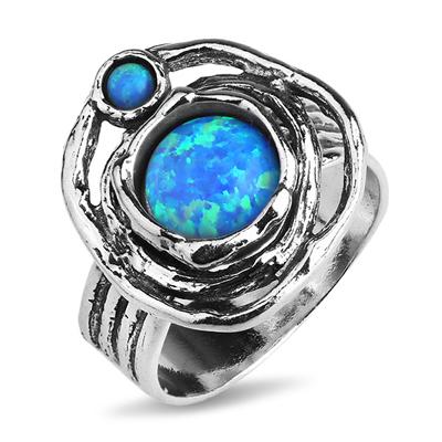 Серебряное кольцо Yaffo с опалом TZR278