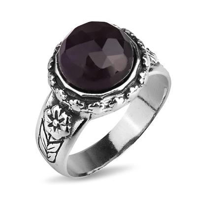 Серебряное кольцо Yaffo с аметистом TZR250