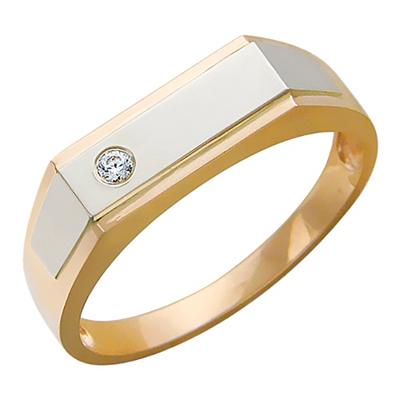 Перстень печатка из золота 01Т165791