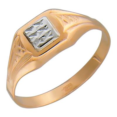 Перстень печатка из золота 01Т713876
