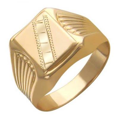 Перстень печатка из золота 01Т716038