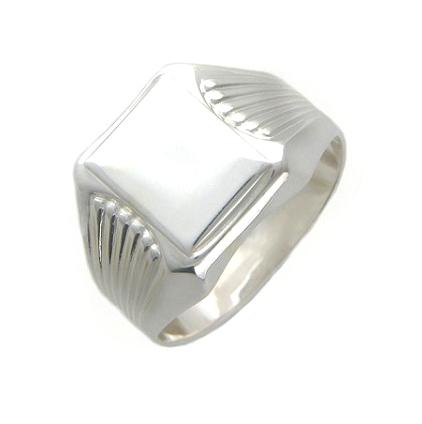 Перстень печатка из серебра 01Т052116