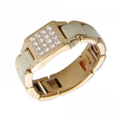Перстень печатка из золота 01Т165417