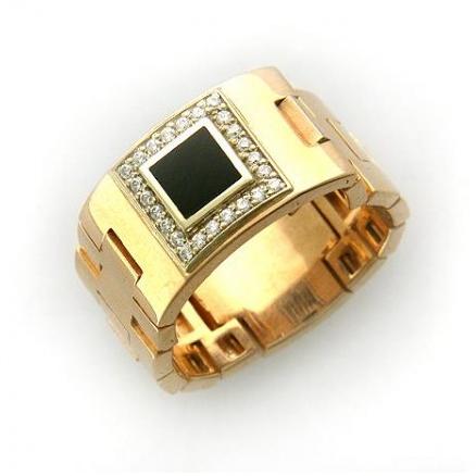 Перстень печатка из золота 01Т463916