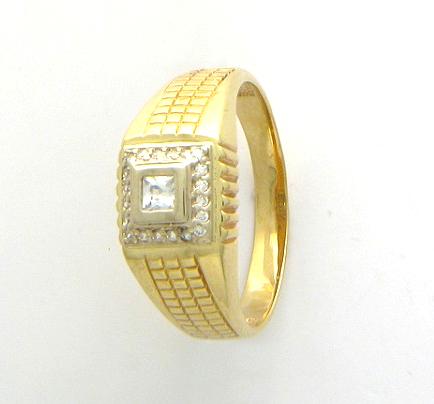 Перстень печатка из золота 01Т164282Ж