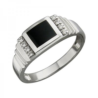 Перстень печатка из серебра 01Т451584