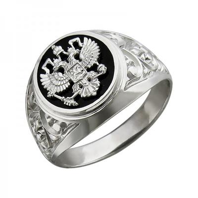 Перстень печатка из серебра 01Т455223