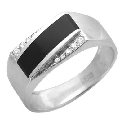 Перстень печатка из серебра 01Т455198
