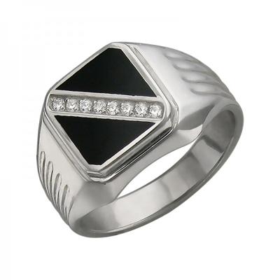 Перстень печатка из серебра 01Т455008