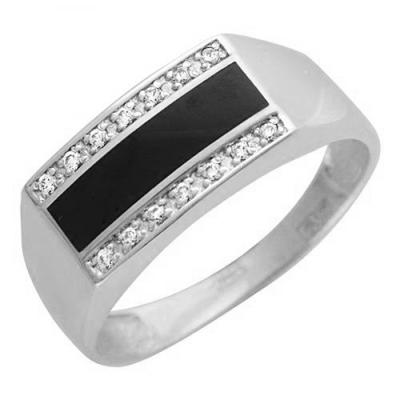 Перстень печатка из серебра 01Т455212