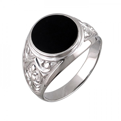 Перстень печатка из серебра 01Т4510889-1