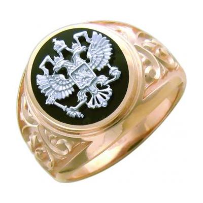 Перстень печатка из золота 01Т465223-1