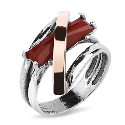 Серебряное кольцо Yaffo с карнелианом SAR724CRN
