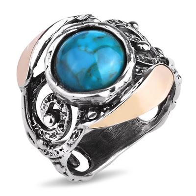 Серебряное кольцо Yaffo с бирюзой SAR1141