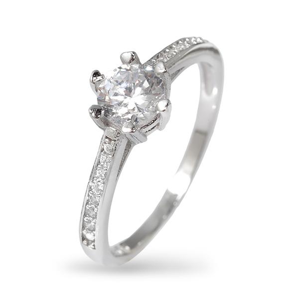 Серебряное кольцо с фианитами SGR308
