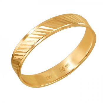 Обручальное кольцо из золота 01О710437