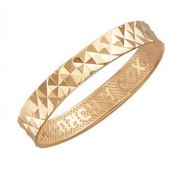 Обручальное кольцо из красного золота 01О710392