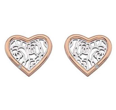 Серебряные серьги пуссеты Hot Diamonds с бриллиантом DE530