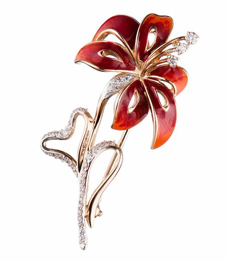 Золотая брошь Цветок M0000060560
