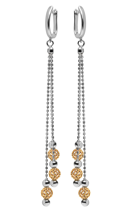 Серебряные серьги метелки HH000032516